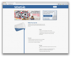 Ticketlab homepage